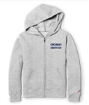 youth  Grey Zip Hoodie