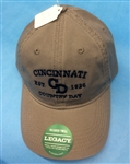 """Legacy"" Relaxed Twill grey solid cap blue CCDS embroidered"