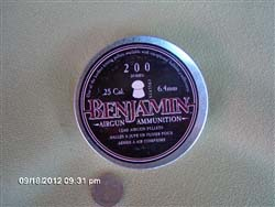 Benjamin Domed .25/200 tin