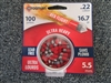 Crosman Lead Free Red Flight Pointed Pellet .22/100 tin
