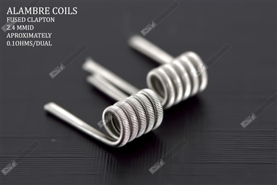 Fused Clapton (Pair) 0.12Ω Dual by Alambre