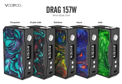 VOOPOO DRAG 157W TC MOD - BLACK RESIN