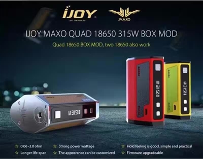 iJoy Maxo Quad 18650 Box Mod (Out Of Stock)