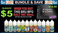 SMOK NOVO KIT + THIS BRU SALT-NIC E-LIQUID BUNDLE