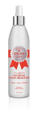 CLARITY No Rinse Stain Remover by SHOW Premium Pet Grooming Products
