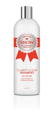 CLARITY CLEAR Shampoo 16oz by SHOW Premium Pet Grooming Products