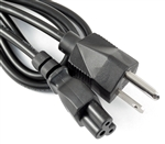 5 Pack 3 Prong AC Power Cable Cord Laptop Monitor