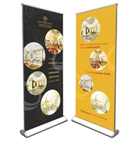 "Pro Retractable Double Sides 33""x80"""