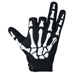 Death Grip Glove - Half Finger - White