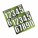 Exalt Loader Number Stickers - White