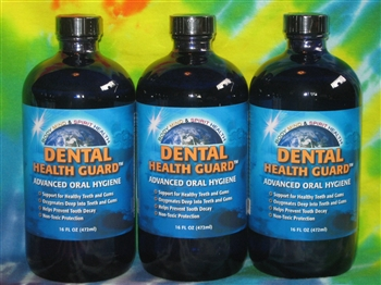 Dental Health Guard -16 oz Liquid - Dentist Recommended - 3 Pack