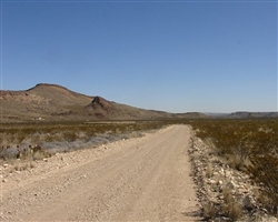 Texas, Brewster County,  10 Acres Terlingua Ranch. TERMS $100/Month