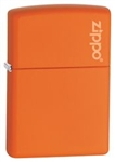 Zippo Lighter - Orange Matte With Logo - 231ZL