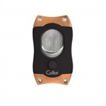 Colibri S-Cut Cigar Cutter Black & Rose Gold - CU500T6