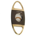 Lotus Jaws Serrated Cigar Cutter Brown & Gold - CUT604