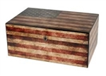 "Humidor - Supreme ""Old Glory"" Weathered American Flag Exterior - HUM-HS-OG"