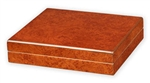 Humidor - Traveler 15 Small Travel Dark Burl Finish - HUM-TR15B