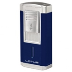 Lotus Lighter - Duke L60 Triple Flame w/ Cutter Blue & Chrome
