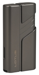 Lotus Hercules L62 Double Jet Lighter w/ Cigar Punch Gunmetal - L6200