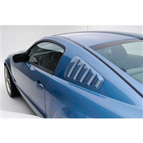 Quarter Window Set, Louvers, 05-09, Mustang
