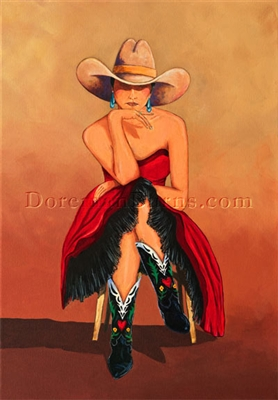 Dancing With Cowgirls by Doreman Burns