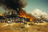 Burning the Way Station by Frank McCarthy