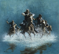 Saber Charge by Frank McCarthy