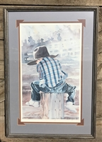 Future Buckaroo by Linda Loeschen, Framed