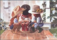 Little Buckle Bunnies by  Linda Loeschen