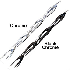 Automotive Chrome Flame Trim Kit