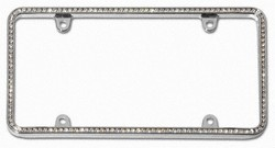 Diamondesque Chrome License Plate Frame
