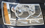 Chevrolet Tahoe Chrome Head Light Bezels, 2007, 2008, 2009, 2010, 2011, 2012, 2013, 2014