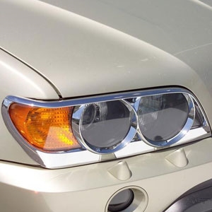 BMW X5 Chrome Head Light Trim 403203, 2000, 2001, 2002, 2003