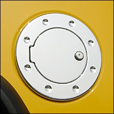 Chevrolet Colorado Billet Locking Fuel Door, 2004, 2005, 2006, 2007, 2008, 2009, 2010, 2011, 2012