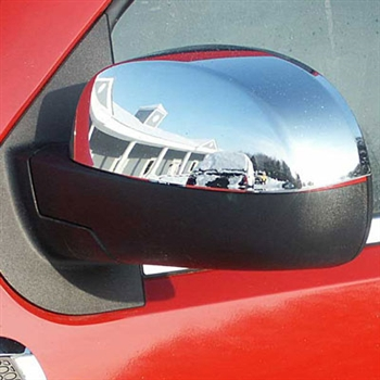 2007-2013 Chevrolet Silverado Chrome Mirror Covers (Top Half)