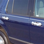 Ford Explorer Chrome Door Handle Covers, with passenger keyhole, 2002, 2003, 2004, 2005, 2006, 2007, 2008, 2009, 2010
