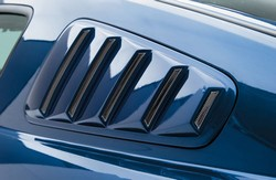 Ford Mustang Painted Rear Side Window Louvers, 2005 - 2009