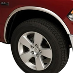 Dodge Ram 1500 Chrome Wheel Well Fender Trim, 2009, 2010, 2011, 2012, 2013, 2014, 2015