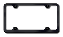 Universal Black ABS License Plate Frame - 4 Holes