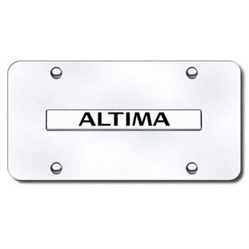 Nissan Altima Chrome License Plate