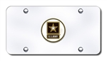 Chrome License Plate - US Army