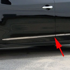 Nissan Altima Sedan Chrome Door Accent Trim, 2013, 2014, 2015