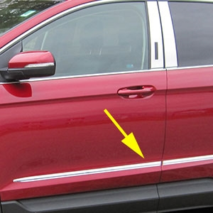 Ford Edge Chrome Side Molding Trim, 2015, 2016, 2017