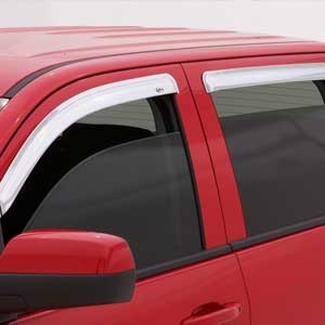 GMC Canyon Chrome Ventvisor, 2004, 2005, 2006, 2007, 2008, 2009, 2010, 2011, 2012