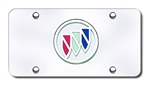 Buick License Plate - Chrome / Color Logo