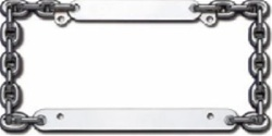 Chrome Chain Style License Plate Frame
