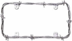 Chrome Barbed Wire Style License Plate Frame