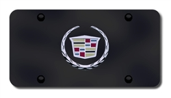 Cadillac Logo License Plate - Black and Chrome or Gold
