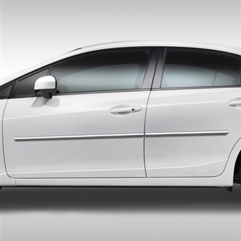 Honda Civic Sedan Chrome Body Side Moldings, 2012, 2013, 2014, 2015