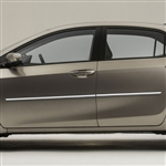 Toyota Corolla Chrome Body Side Moldings, 2014, 2015, 2016, 2017, 2018